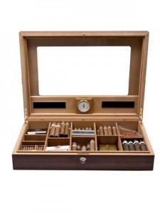 Zigarren-Humidor oder auch Tischhumidore eignen sich zum vorübergehenden Lagern von einer kleinen Menge Zigarren.